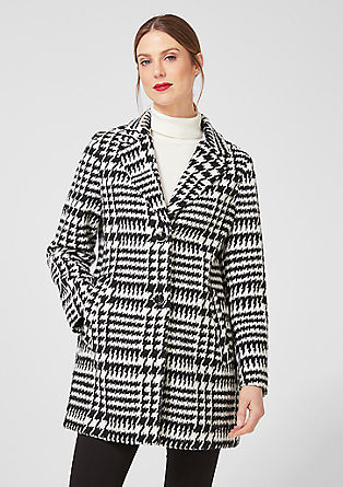 Jacquard coat made from blended wool from s.Oliver