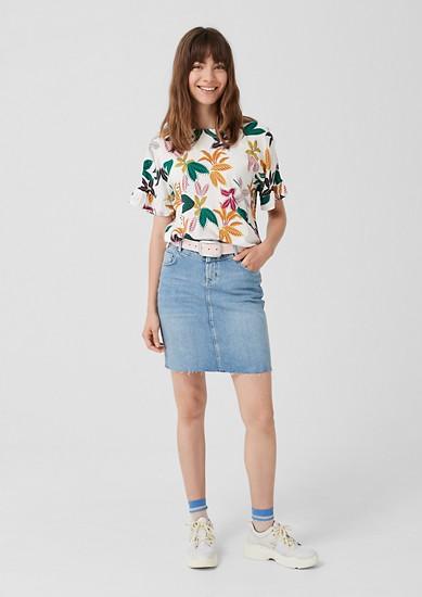 Blouseachtig shirt met motiefprint