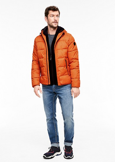 Quilted jacket with a honeycomb texture from s.Oliver