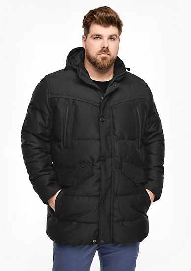 zimní bunda s keprovou strukturou