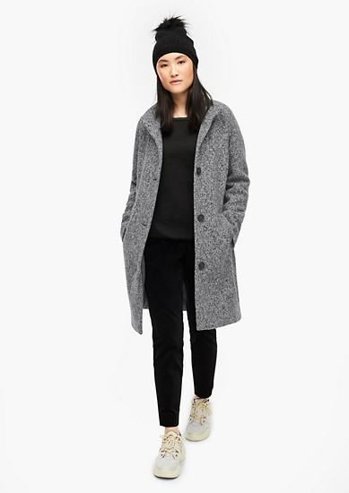 Mantel aus Melange-Bouclé