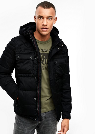 Quilted jacket with a herringbone texture from s.Oliver