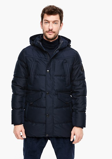 Winter jacket with a twill texture from s.Oliver