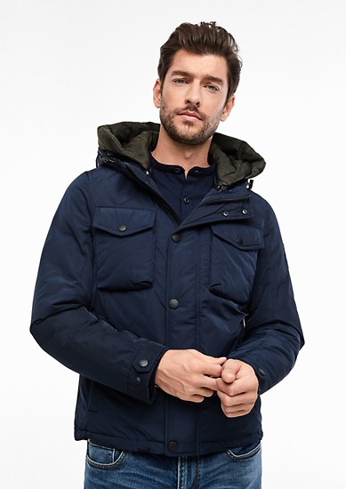 Winter jacket with a double hood from s.Oliver