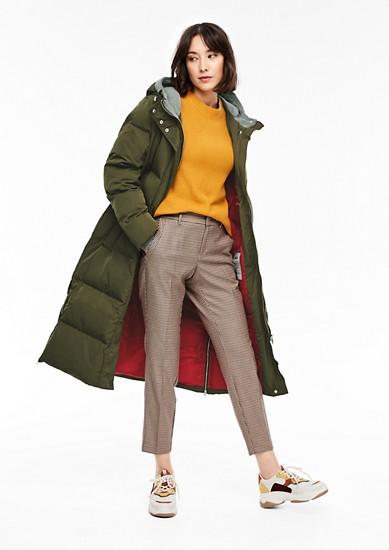 Longcoat mit Jersey-Details