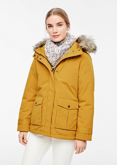 Warmer Parka mit Fake Fur-Detail