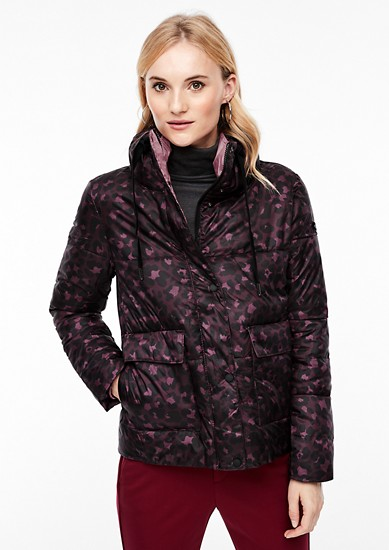 Outdoor jacket with a check pattern from s.Oliver