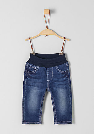 Stretch jeans with a ribbed waistband from s.Oliver