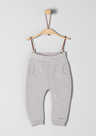 Tracksuit bottoms with a ribbed waistband from s.Oliver