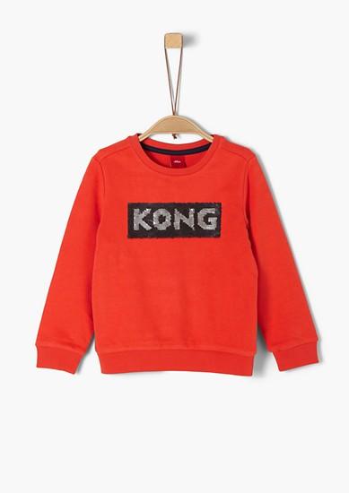 Sweatshirt met omkeerbare pailletten