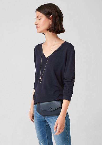 V-Neck-Pullover aus Viskosemix