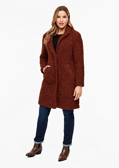Plush-style coat from s.Oliver