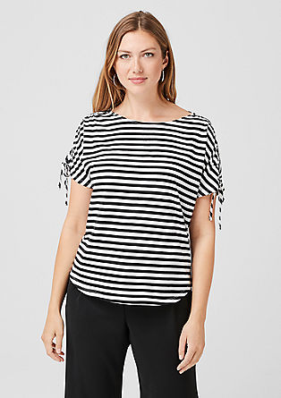 Striped top with glitter from s.Oliver