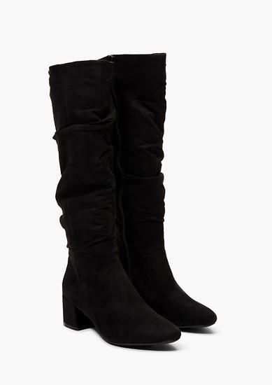 Langschaft-Stiefel aus Velours