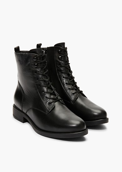 Chaussures en cuir à lacets et doublure en peluche de s.Oliver