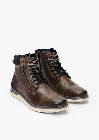 Leren boots met vintage look