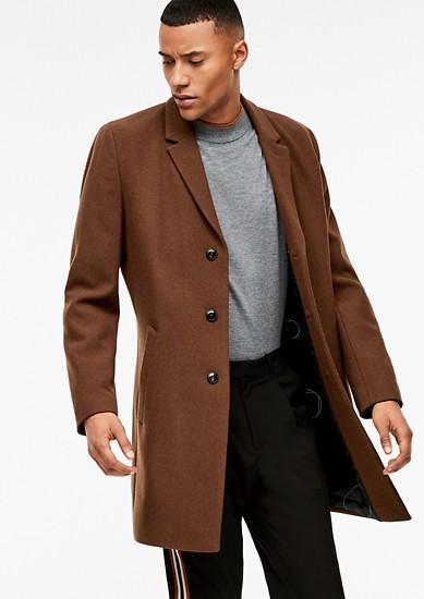 Klasický kabát zvlněné směsi