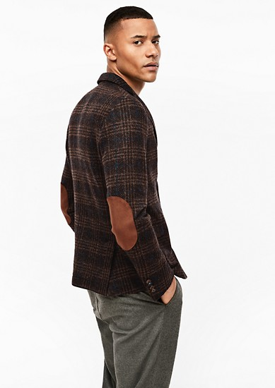 Extra Slim: check new wool jacket from s.Oliver