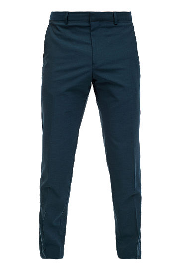 Slim: melange suit trousers from s.Oliver