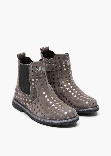 Chelsea Boots mit Glitzer