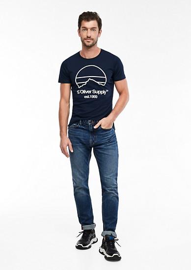 Tall Size: Jerseyshirt mit Label-Print