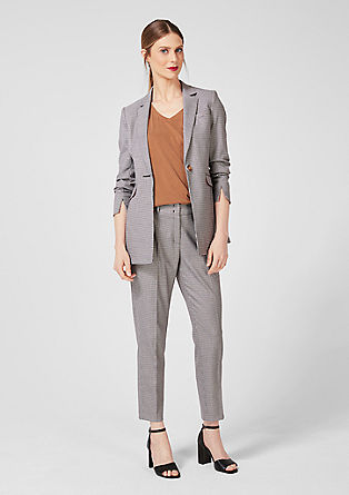 Long blazer with a houndstooth pattern from s.Oliver