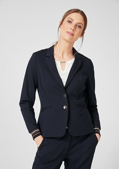 Jersey blazer with ribbed cuffs from s.Oliver
