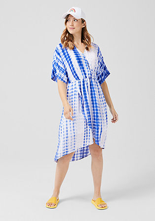 Viscose wrap-over dress from s.Oliver