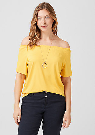 Off Shoulder-Shirt aus Jersey