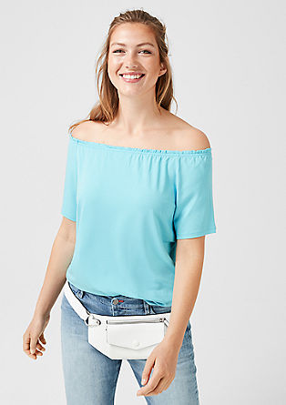 Off-the-shoulder jersey top from s.Oliver