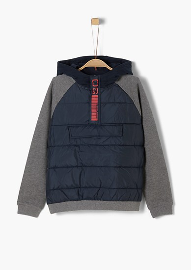 Sweatshirt with quilted details from s.Oliver