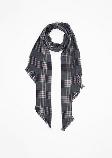 Geweven sjaal met prince-de-galles motief