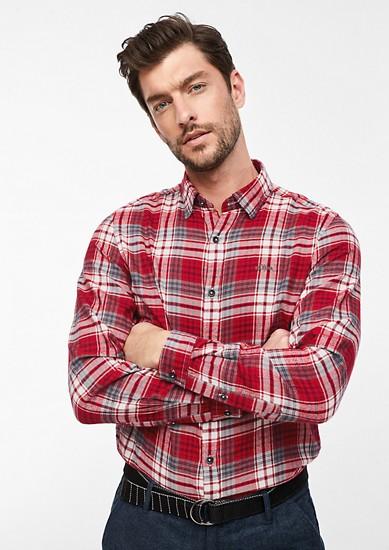Slim: Károvaná flanelová košile