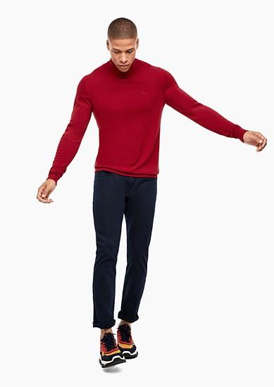 Feinstrick-Pullover mit Rollkragen