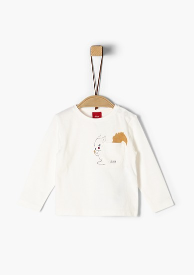 Long sleeve top with a squirrel motif from s.Oliver