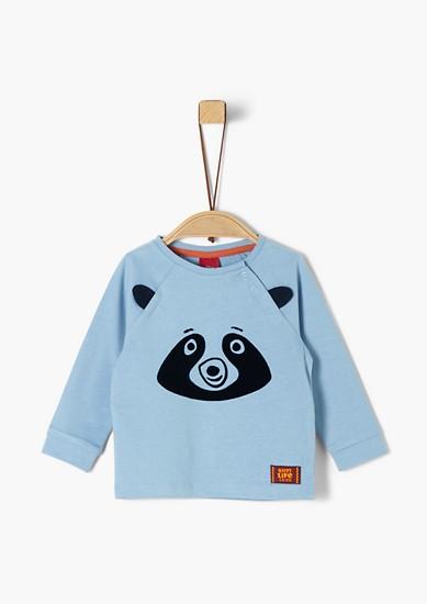 Longsleeve mit Panda-Motiv