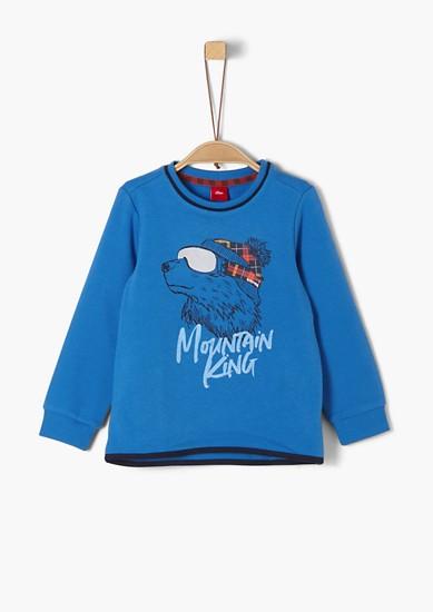 Sweatshirt mit Eisbären-Print
