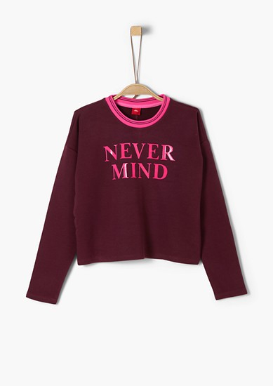 Cropped sweatshirt with lettering from s.Oliver