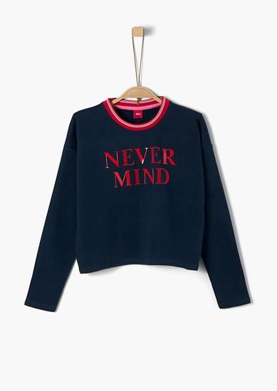Cropped Sweatshirt mit Wording