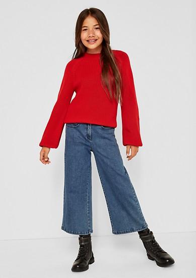 Cropped Pullover mit weiten Ärmeln