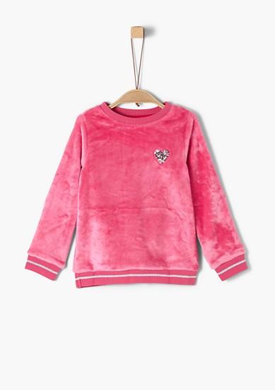 Nicki-Sweatshirt mit Glitzer-Details