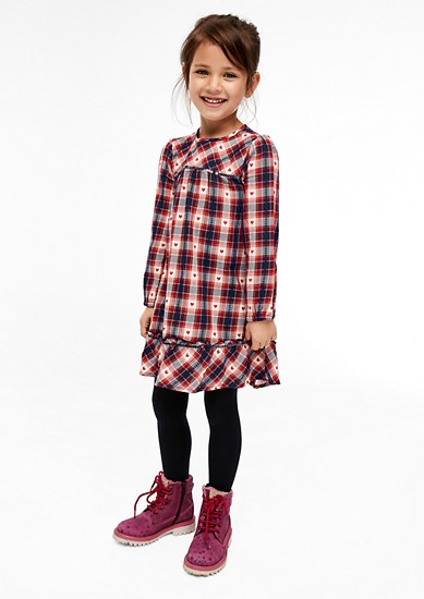Embroidered flannel dress from s.Oliver