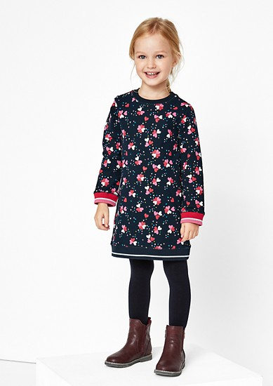 Sweatshirt dress with glitter from s.Oliver