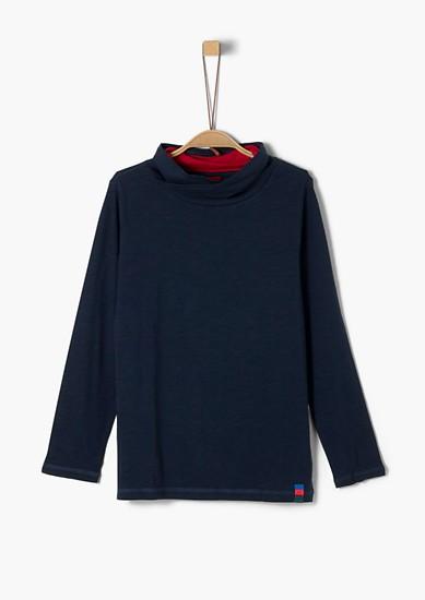 Tričko s dlouhým rukávem a šálovým límcem