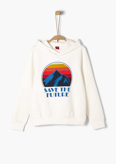 Sweatshirt with a statement print from s.Oliver