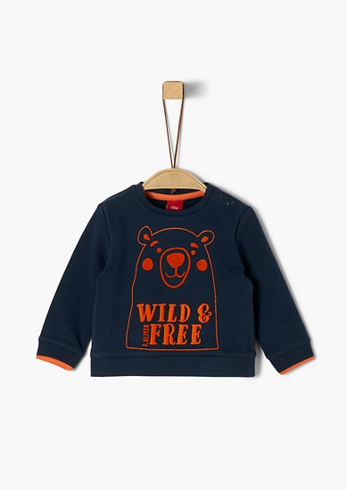 Sweatshirt with an embroidered motif from s.Oliver