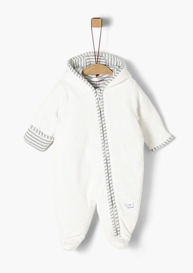 Warm velour romper suit from s.Oliver