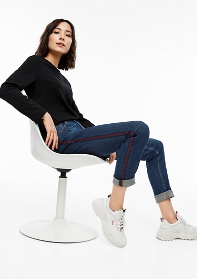 Shape Slim: Denim mit Galonstreifen