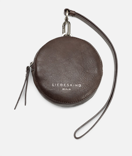Round soft leather pouch from liebeskind