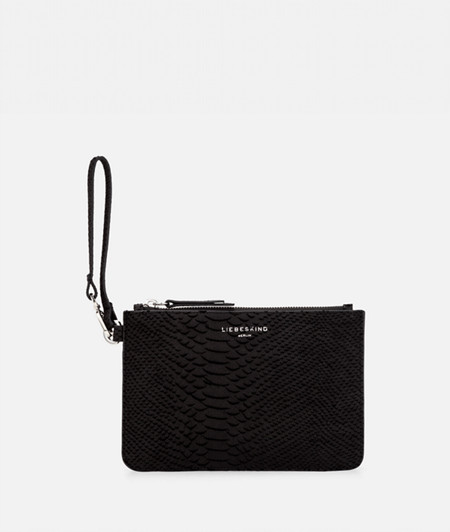 Flat make-up bag with a python pattern from liebeskind
